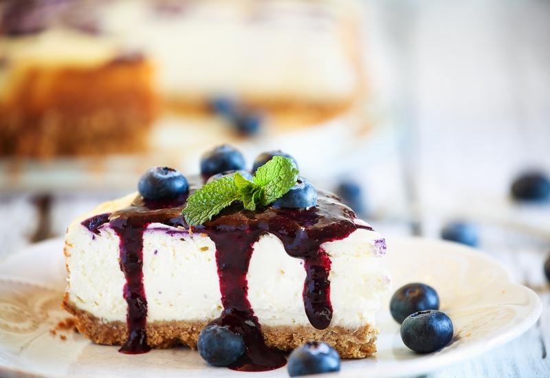 お酢のブルーベリーレアチーズケーキ